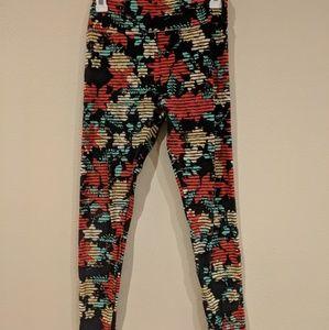 Lularoe OS Floral Patterned Leggings